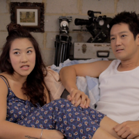 "Charis Vera Ng (Lingual) and Jason Chan (Jimmy) in ep 2 of ""What Do Men Want?"" drama series."