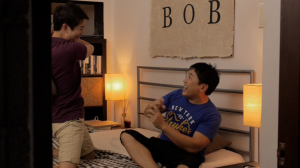 """Jimmy blames Bob for a deception gone wrong - """"What Do Men Want?"""" drama series."""